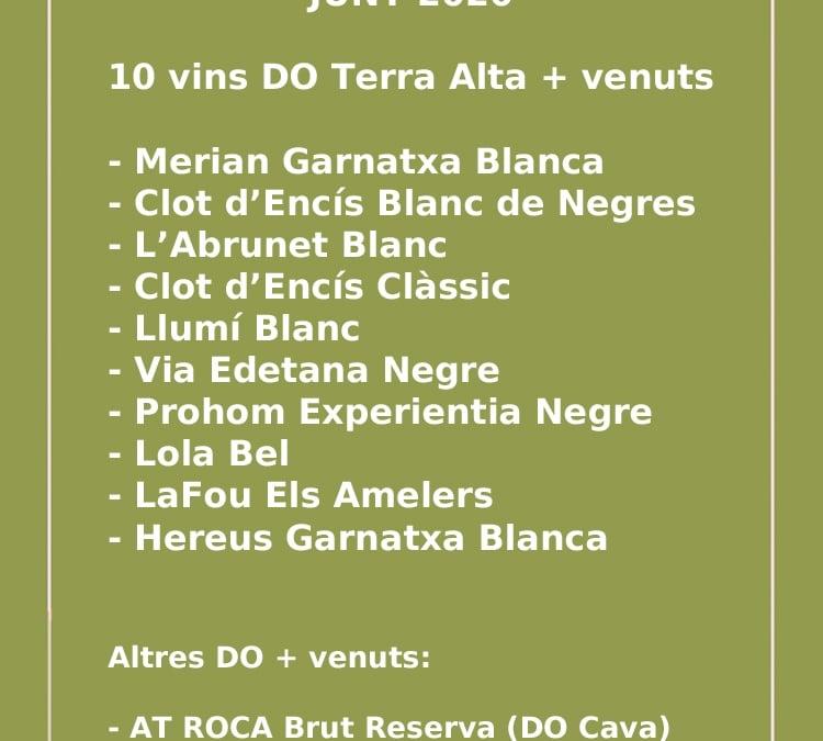 Los vinos más vendidos de Terra Alta